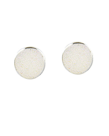 Sparkle White Druzy Sterling Silver Earrings