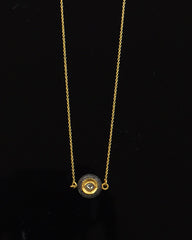 Clique Rose Cut Diamond Necklace in Gold Vermeil