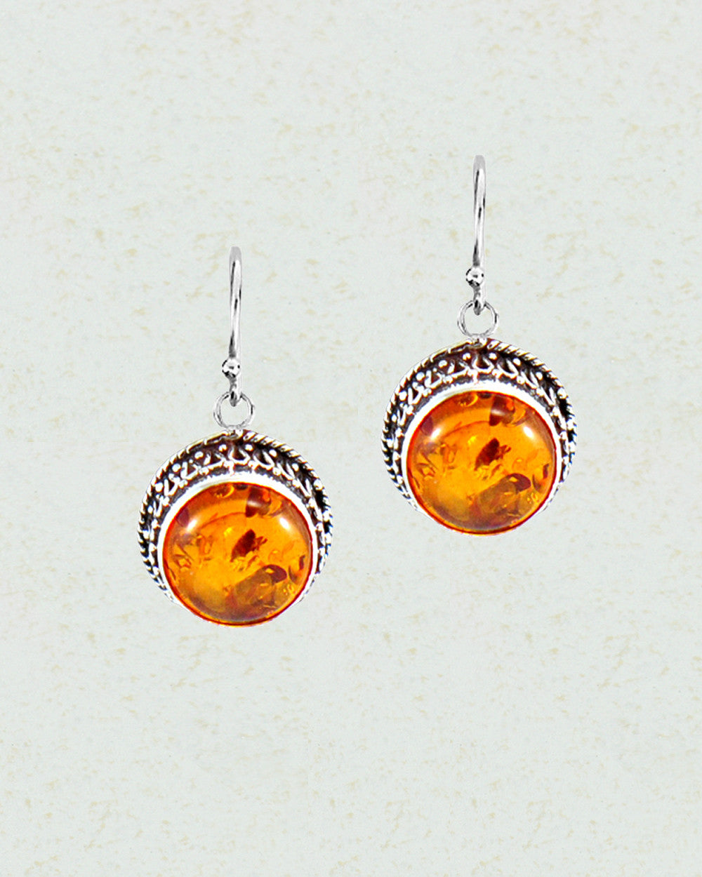 Baltic Amber Earrings in Sterling Silver - Sivalya