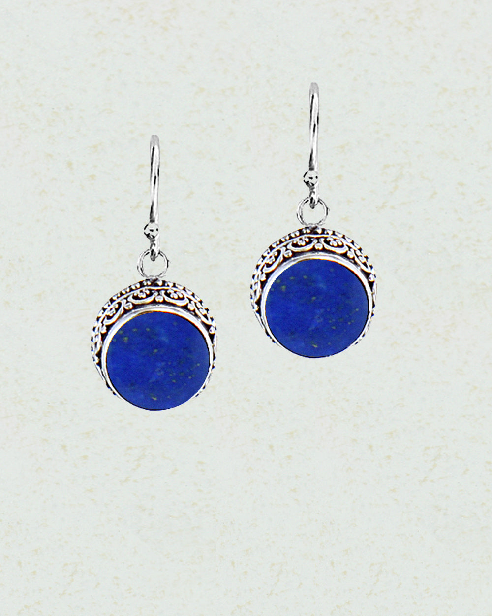 Luminous Lapis Lazuli Sterling Silver Earrings