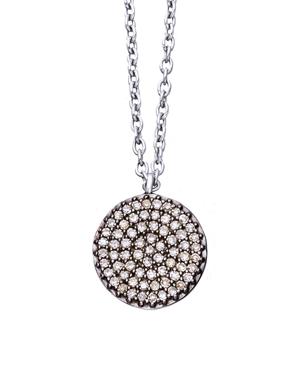 Starlet Disk Pendant Necklace 925 Sterling Silver