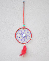 Silk Thread and Feathers Dream Catcher Small - Sivalya