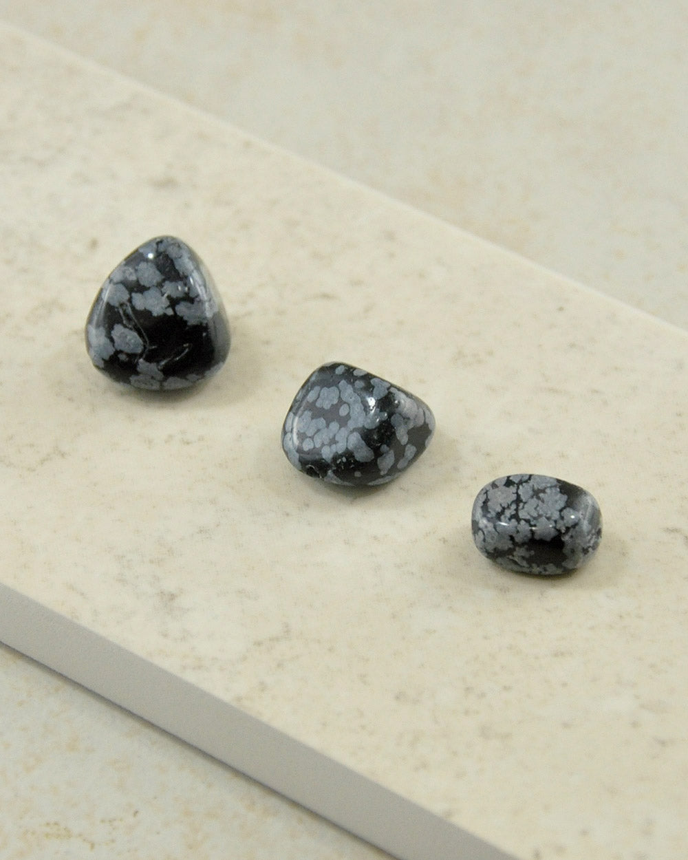 Snowflake Obsidian Palm Stones - Set of 3