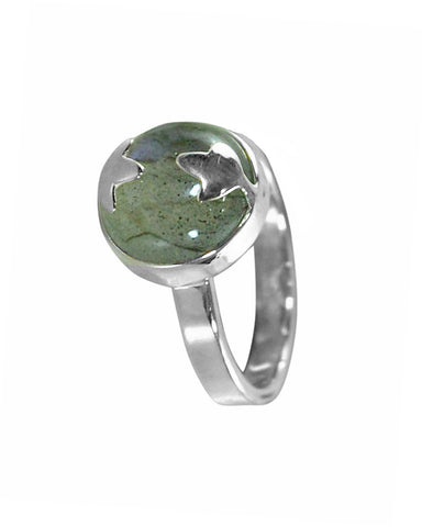 Labradorite Spellbinder Ring in 925 Sterling Silver