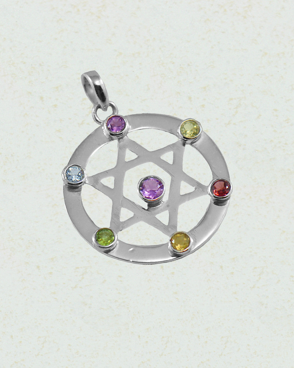 Star of David Chakra Pendant in Sterling Silver - Sivalya
