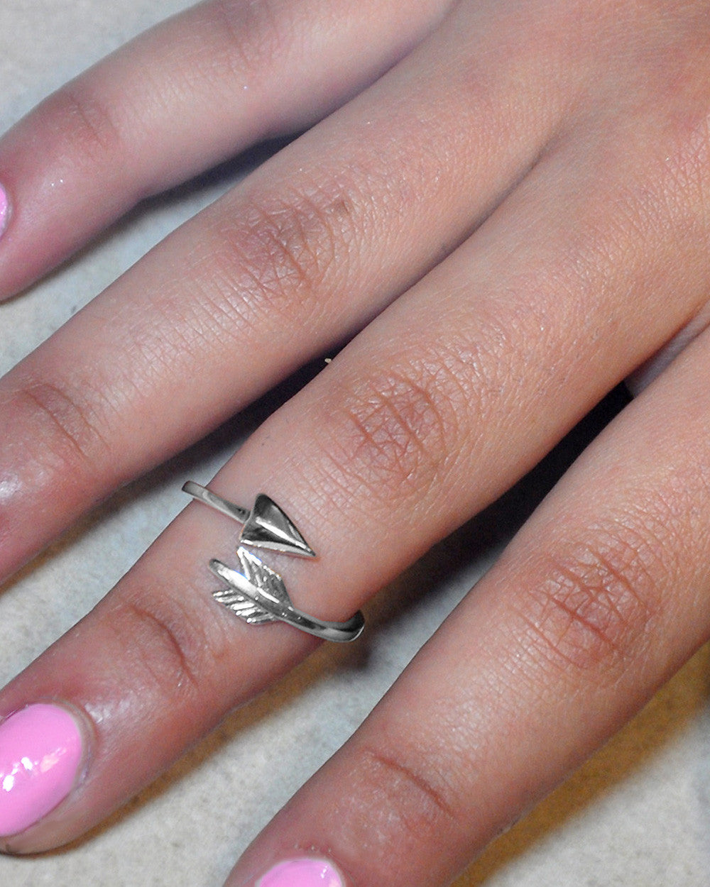 Bohemian Arrow Sterling Silver Ring - Adjustable