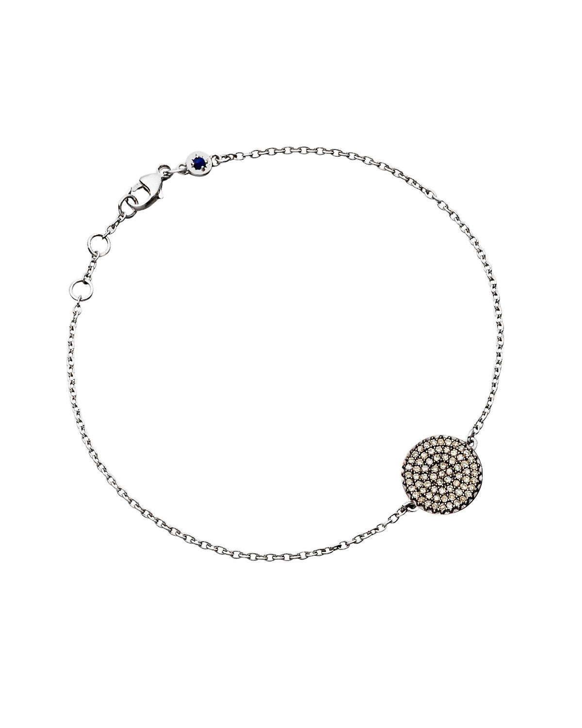 Starlight Disk Layering Bracelet in Sterling Silver