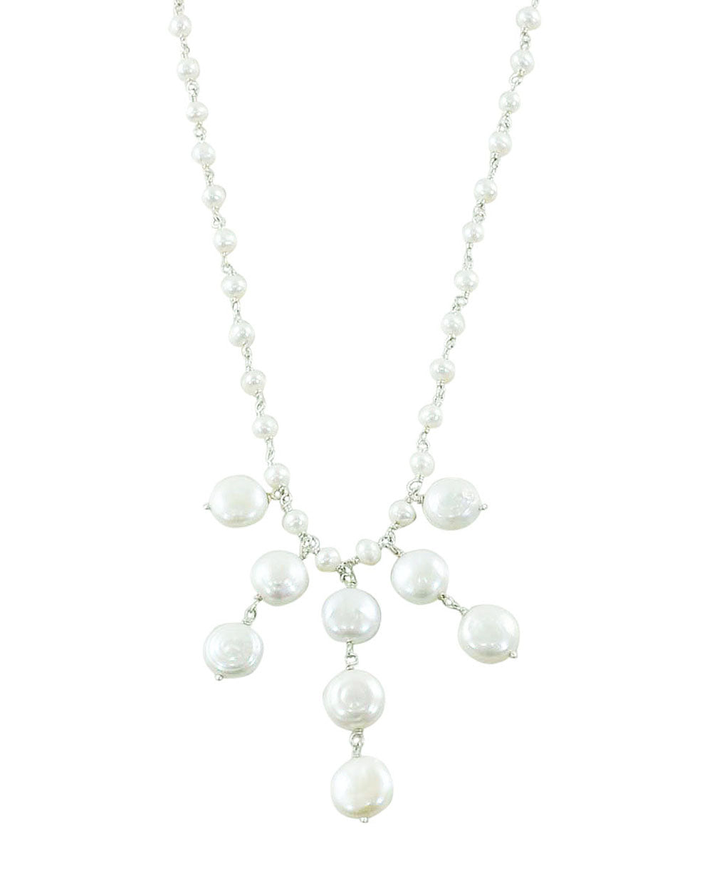 Stylish White Pearls Layered Necklace