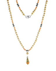 Sukha Tusli and Carnelian 108 Power Beads Mala Necklace
