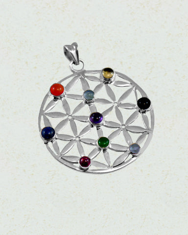 Symphony Chakra Pendant in Sterling Silver - Sivalya