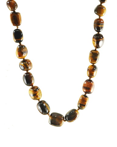 Natural Tiger's Eye Large Crystals Necklace