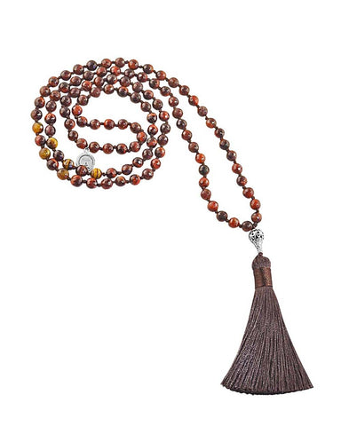Tigers Eye Mala Enduring Strength