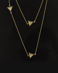 Trilogy Rose Cut Diamond Long Layering Necklace