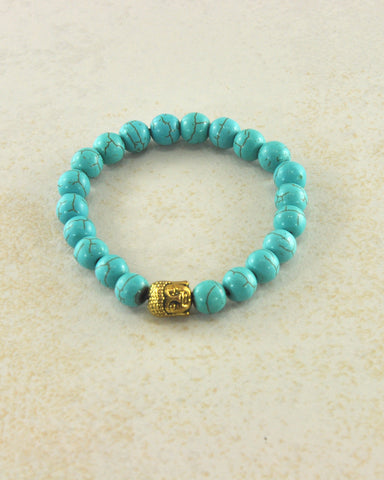 Natural Gemstone Buddha Beaded Bracelet | Wrist Mala - Sivalya