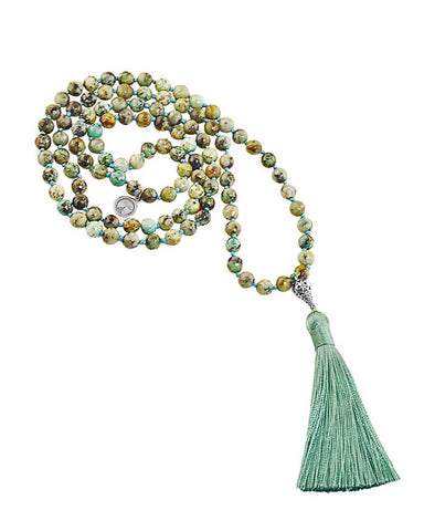 Turquoise Mala Peace and Protection