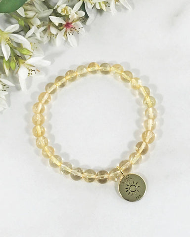 Vital Energy Sun and Citrine Bracelet Gold Vermeil