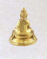 Mini Wish Giving Buddha Brass Statue 2 inches