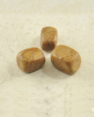 Picture Jasper Tumble Stones - Set of 3
