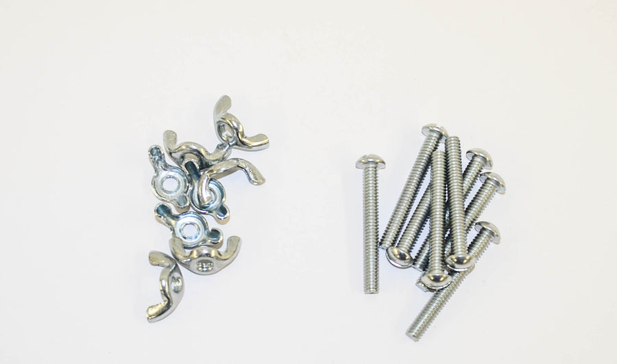 1/4 x 20 Screws & Wing Nut Set (8 ea)