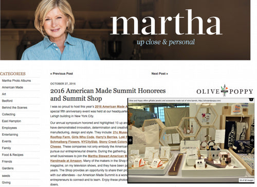 Olive and Poppy at Martha Stewart Summit