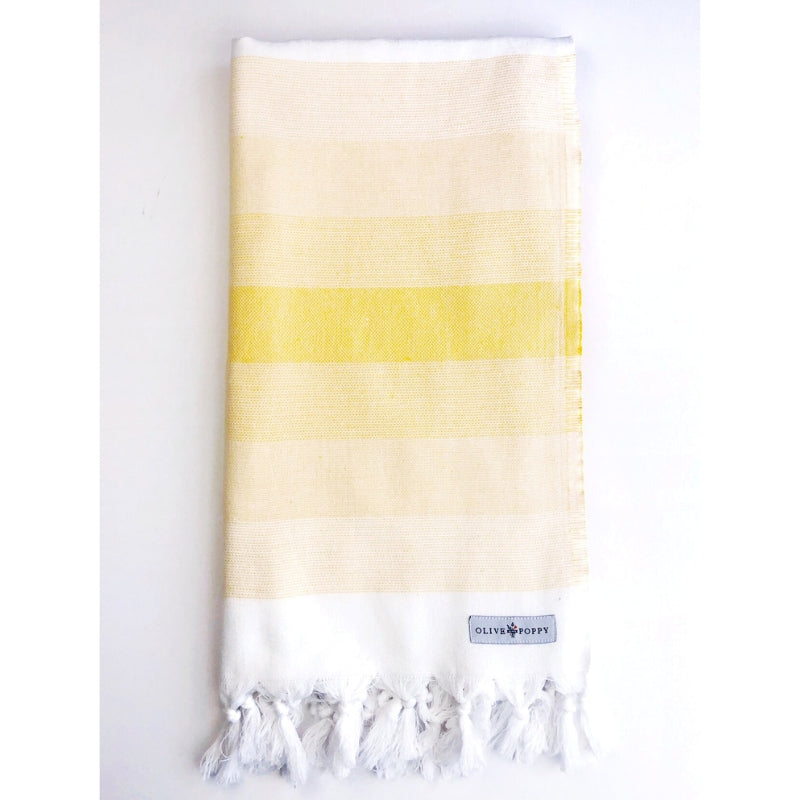 """Sit and Sip"" Bubbles Turkish Towel - Olive and Poppy"