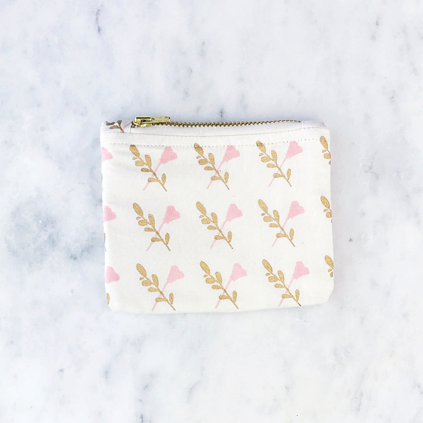 Coin Purses - Olive Leaf & Poppy Flower Print - Olive and Poppy