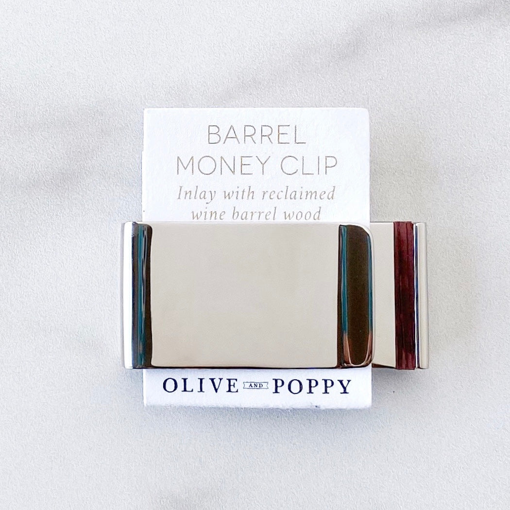 Barrel Money Clip - Olive and Poppy