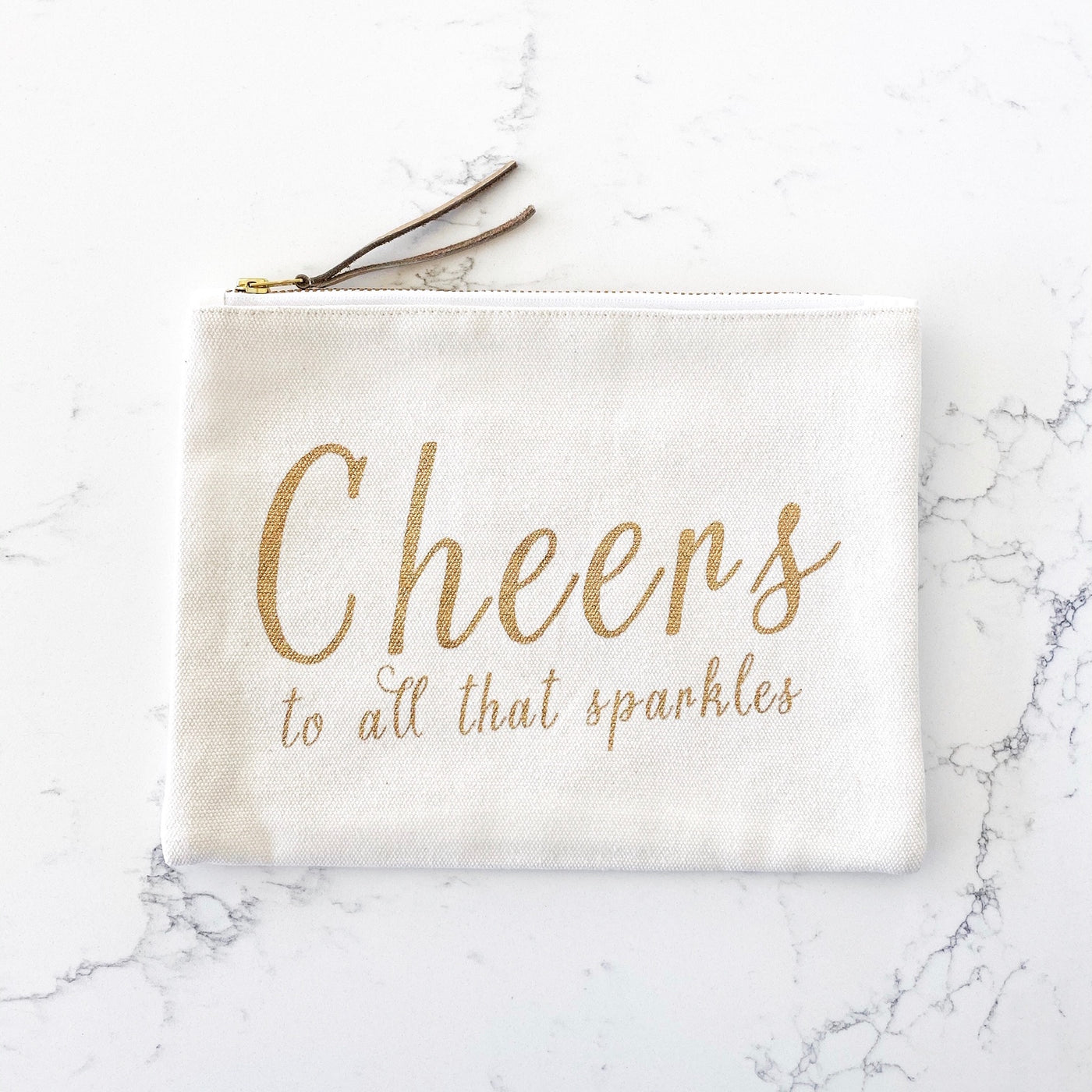 Zipper Pouch - Cheers to All That Sparkles - Olive and Poppy