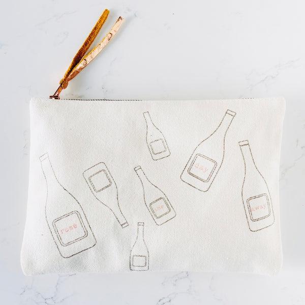 Zipper Pouch - Rosé The Day Away