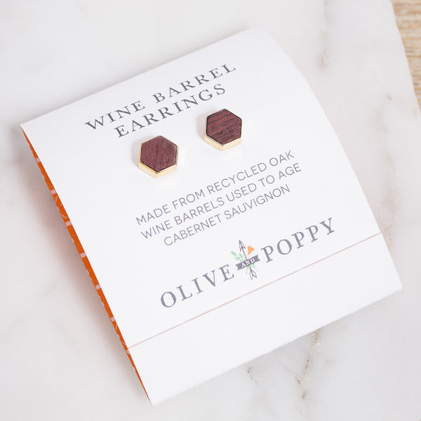 Barrel Earrings - Olive and Poppy
