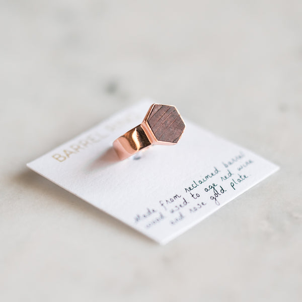 Barrel Ring - Rose Gold - Olive and Poppy