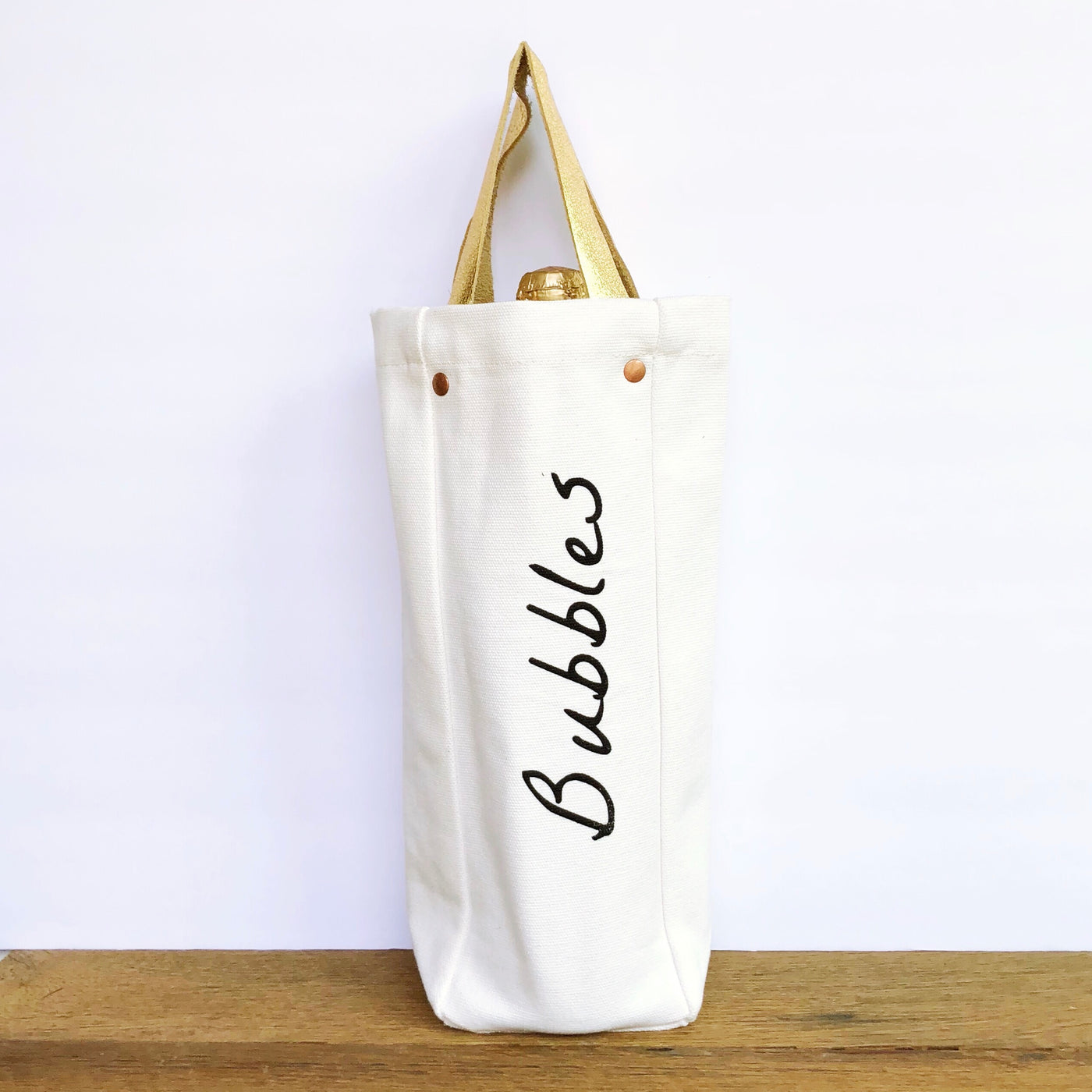 Bubbles Wine Tote - Olive and Poppy