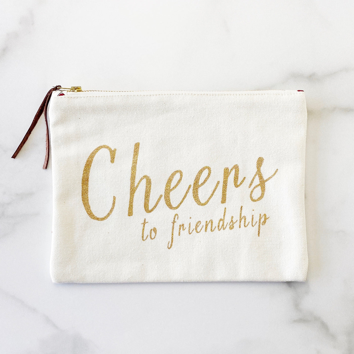 Zipper Pouch - Cheers to Friendship - Olive and Poppy