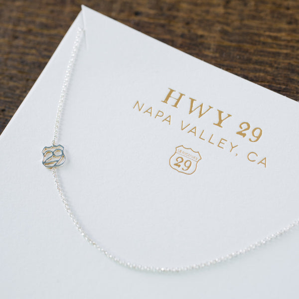 Highway 29 Necklace - Napa Valley - Olive and Poppy