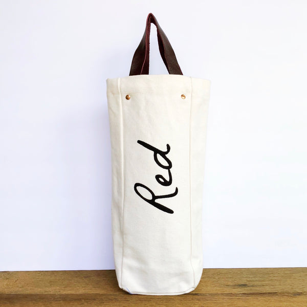 Red Wine Tote - Olive and Poppy