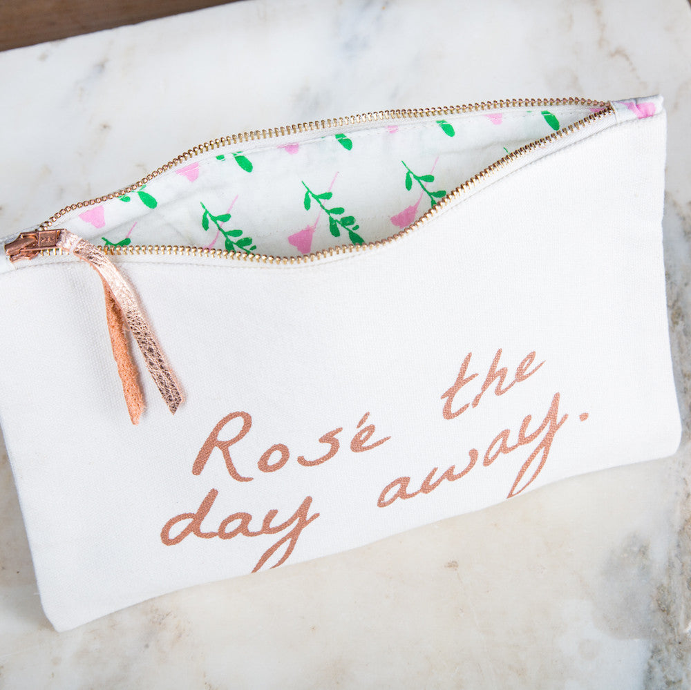 Zipper Pouch - Rosé the Day Away - Olive and Poppy