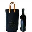 """Glass Half Full"" Wine Tote - Olive and Poppy"