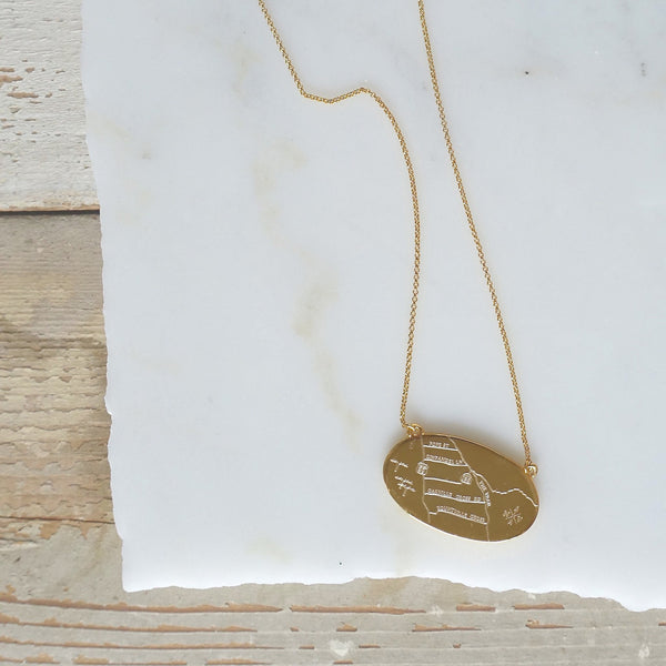 Terroir Map Necklaces - Olive and Poppy