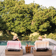 """Sit and Sip"" Turkish Towels - Olive and Poppy"