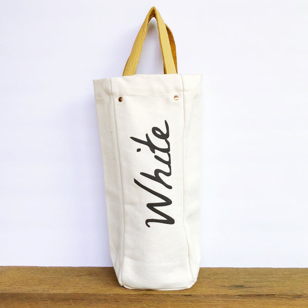 White Wine Tote - Olive and Poppy