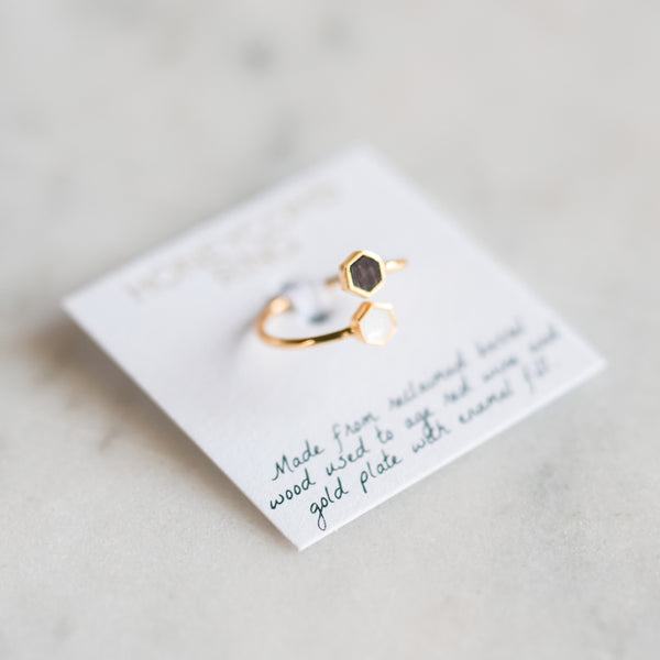 Honeycomb Ring - Gold - Olive and Poppy