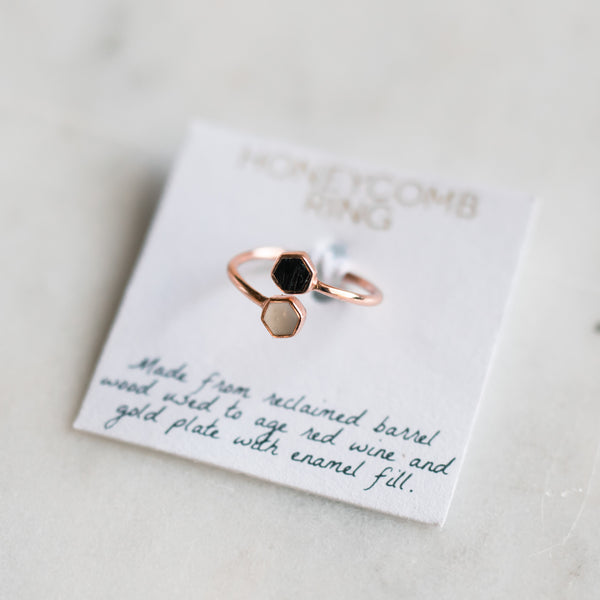 Honeycomb Ring - Rose Gold - Olive and Poppy