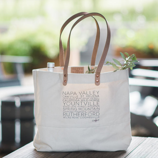 Appellation Tote Bags - Olive and Poppy