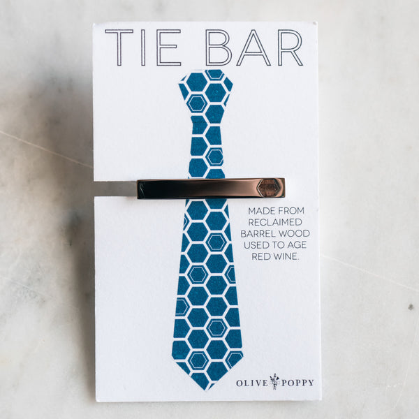 Barrel Tie Bar - Olive and Poppy