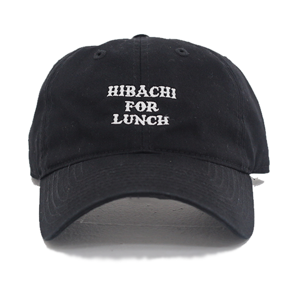 Hibachi for Lunch Logo Hat - Black