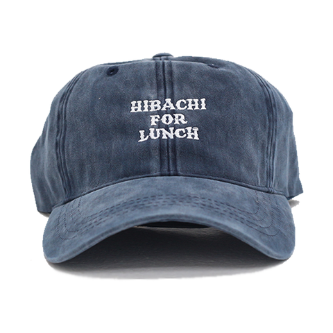 Hibachi for Lunch Logo Hat - Washed Denim