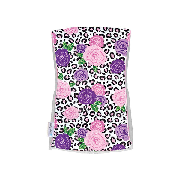 Single Plush Burp Cloth - Wildflower