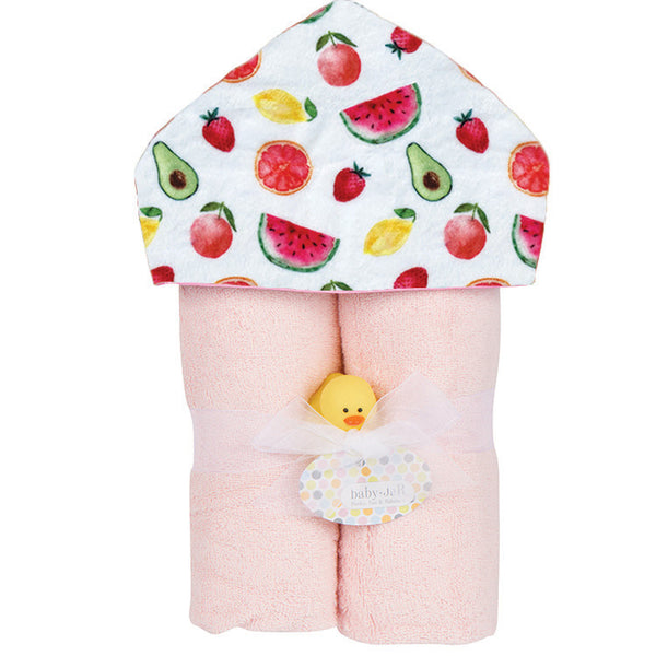 Plush Hooded Towel - Fruit Stand