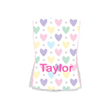 Single Plush Burp Cloth - Hearts & Stars