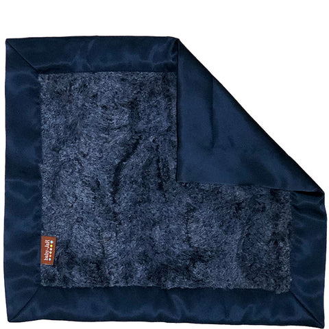 Luxe Little Blankie - Heather Navy